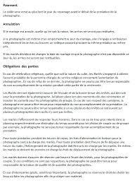 annulation de mariage contrat reportage photographique mariage lecavelier d