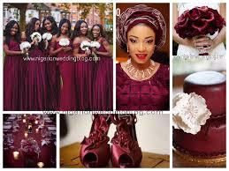 colour themes for nigerian wedding nigerian wedding maroon cream wedding colour scheme nigerian