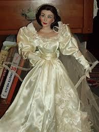 Gone With The Wind Curtain Dress Franklin Mint Scarlett Wedding Gown Doll Dress Jpg