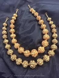 antique necklace chain images Gold antique ball necklace indian jewelry jewel and gold jpg