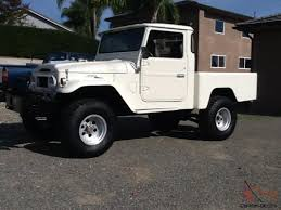 land cruiser pickup v8 landcruiser fj45 shortbed convertable pickup chevy v8 full restoration
