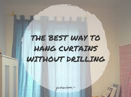 Curtains Without Rods The Best Way To Hang Curtains Without Drilling Packmahome