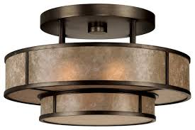 Flush Mounted Ceiling Lights by Kitchen Semi Flush Mount Ceiling Lights Brushed Nickel Clear