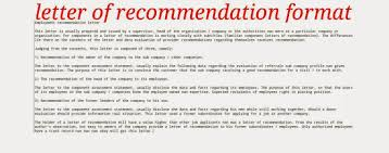 Sample Letter Of Recommendation From Teacher Recommendation Letter Format