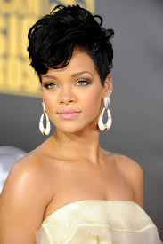 short hair weave hair style and color for woman