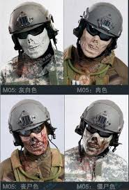 ghost mask army dead corpse ghost tactical masks outdoor military scary paintball