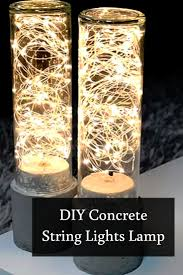 diy string lights concrete lamp light project concrete and be mesmerized on this beautiful play of lights project make your own diy string lights concrete lamp to vamp up your living room