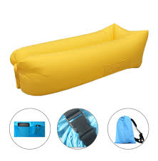 best yellow inflatable hammock air lounger filled balloon bed sofa