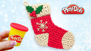 play doh christmas gift stocking make toy out of play doh clay