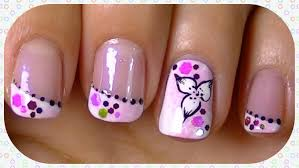 candy flower nail art design easy tutorial youtube
