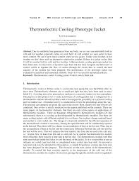thermoelectric cooling prototype jacket pdf download available