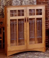 harvey ellis bookcase glass doors custom arts and crafts furniture