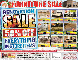 arv furniture flyers renovation sale 50 off in store floor