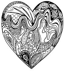 mindful coloring love hearts