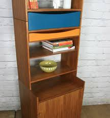 Modular Wall Units Danish Teak Modular Wall Unit Shelving 1 Blue Pair Available