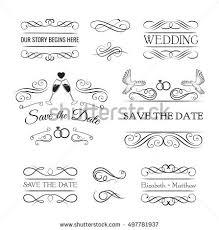 dividers set ornamental decorative stock vector