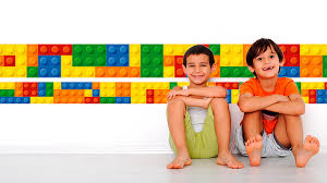lego border wall sticker apply youtube