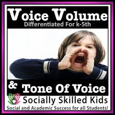 social skills activities voice volume tone of voice