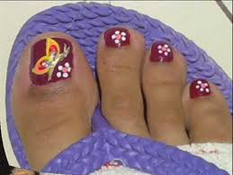 27 most wonderful butterfly nail art for toe nails