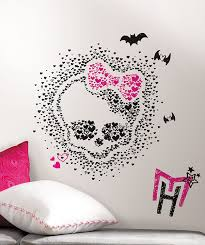 Amazon Wall Murals by Roommates Rmk2258slm Monster High Heart Skullette Peel And Stick