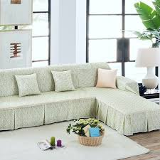 Green Sofa Slipcover by Unikea Pastoral Green Floral Sectional Sofa Cover For L Shaped