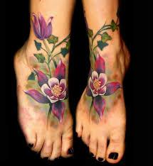 leg flower tattoos foot flowers u0026 ivy tattoo by chris 51 of area 51 tattoo