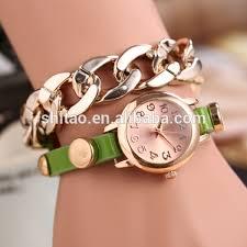 bracelet design watches images Hot sales bracelet watch for girl friend gift new design gold jpg
