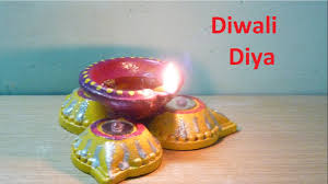 Decorations For Diwali At Home How To Make Decorated Diwali Diya Oil Lamp From Old Or Previous