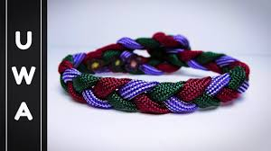 paracord woven bracelet images How to make a 3 strand flat braid paracord bracelet no buckle jpg