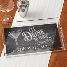personalized serving tray personalized serving tray i ll drink to that