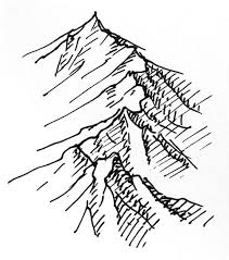 quick mountain tutorial fantasy map drawings and doodles