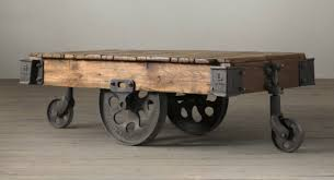 Rustic Coffee Table With Wheels Friday Favorites Rustic Coffee Tables Shining On Design