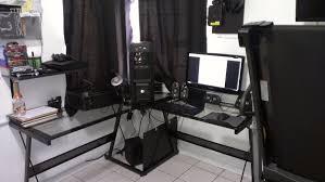 l desk gaming setup decorative desk decoration