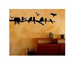 amazon com tree branch flock of birds decal cute wall art home