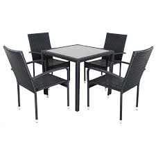 Glass Patio Table And Chairs Patio Table And 4 Chairs 5 Patio Furniture Dining Set With