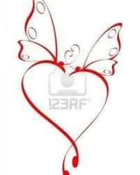 23 best butterfly name tattoo with heart design images on