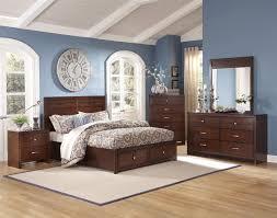 Queen Bedroom Sets With Storage Classic Kensington 4 Pc Panel Storage Bedroom Set In Burnished Cherry