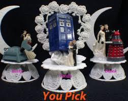 dr who wedding cake topper disney beauty and the beast wedding cake topper lot glasses