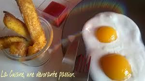 cuisine trompe l oeil frites oeufs sur le plat trompe l oeil la cuisine une