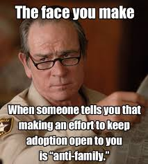 Adoption Meme - the similarities of anti adoption and pro choice by unicornarama