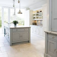 Marble Floors Kitchen Design Ideas Light Reflective Floor And Worktop Coloured Units Worth