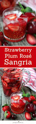 strawberry plum rose sangria pink wine party cocktail