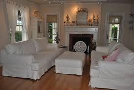 Cottage Style Dining Room Furniture by Coastal Vintage Style White Slipcovered Sofa Old Whitewashed