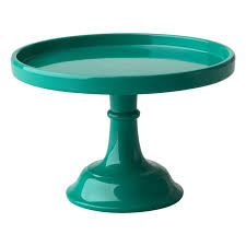small cake stand small green melamine cake stand by rice dk vibrant home