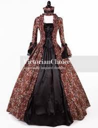 Ball Gown Halloween Costumes Renaissance Georgian Dress Brocade Period Ball Gown Dark Vampire