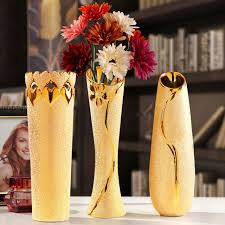 Gold Tall Vases Tall Vase For Wedding Decoration Home Accessories European