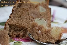 cuisiner les chataignes fraiches gâteau à la farine de châtaigne et aux poires cuisine guylaine
