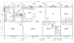 bedroom ranch houses simple floor 4 plans plan kevrandoz