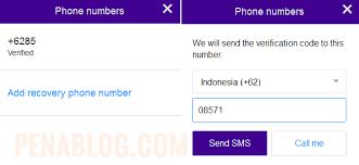 membuat yahoo mail via hp cara mengganti atau menambahkan no hp dan email pemulihan di yahoo