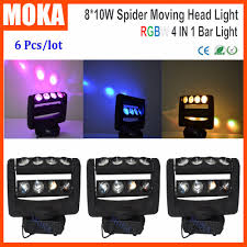 online shop 6pcs lot moving head spider light rgbw 8 eyes laser